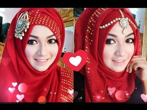 Bridal Hijab Tutorial For Weddings And Parties Hijabi Princess Youtube Cute766