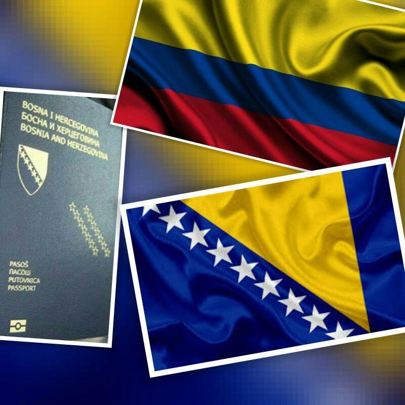 عاجل كولومبيا تلغي نظام التأشيرات لمواطني البوسنة والهرسك ودخول مواطني البوسنة لجمهورية كولومبيا لفترة تصل ل 90 يوم و Country Flags Eu Flag Flag