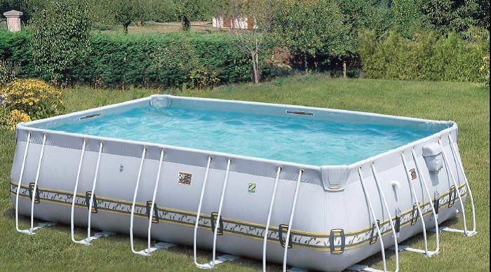 Portable Pools For The Small Space In Your House Creative Design With Grey Exterior Ideas