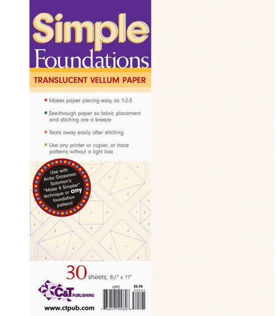 Simple Foundations Translucent Vellum Paper-8-1/2