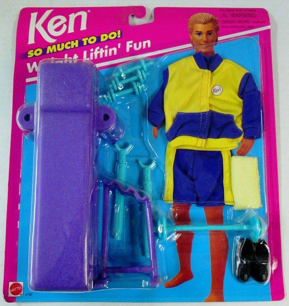 Ken (Boyfriend of Barbie) So Much To Do! Weight Liftin\' Fun 67187 ...