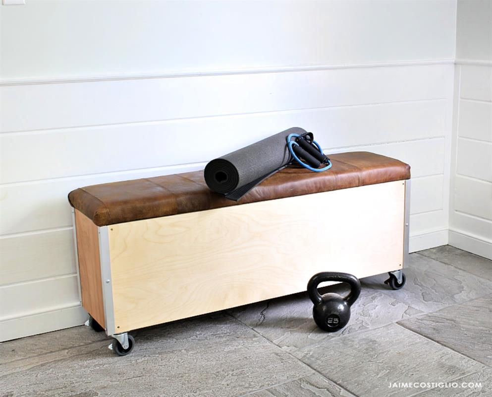Build A Super Sturdy Workout Bench With Storage For Your
