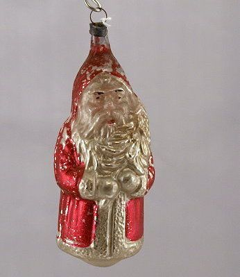 antique Santa glass Christmas tree ornament | Antique ...