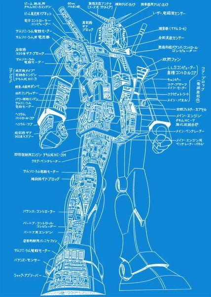 ken 045 Blueprint - Mobile Suit Gundam 24 - fresh blueprint paper name