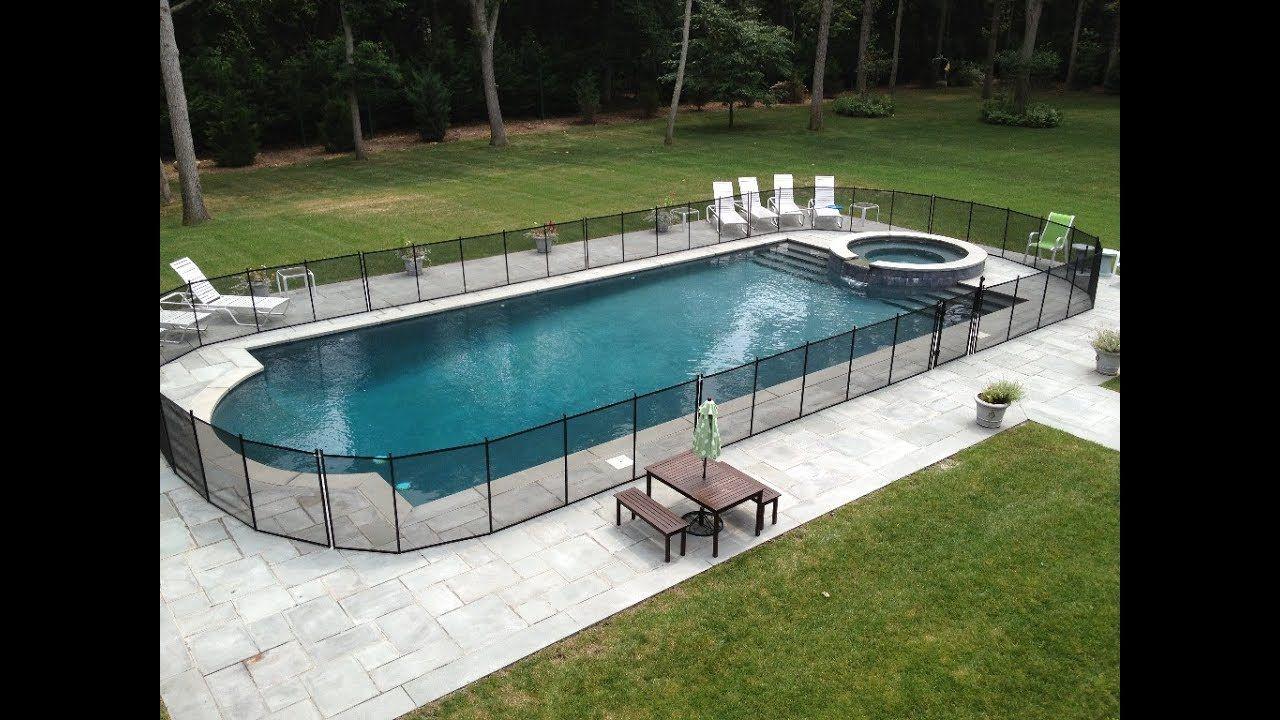 Child safe removable pool fences removable pool fence