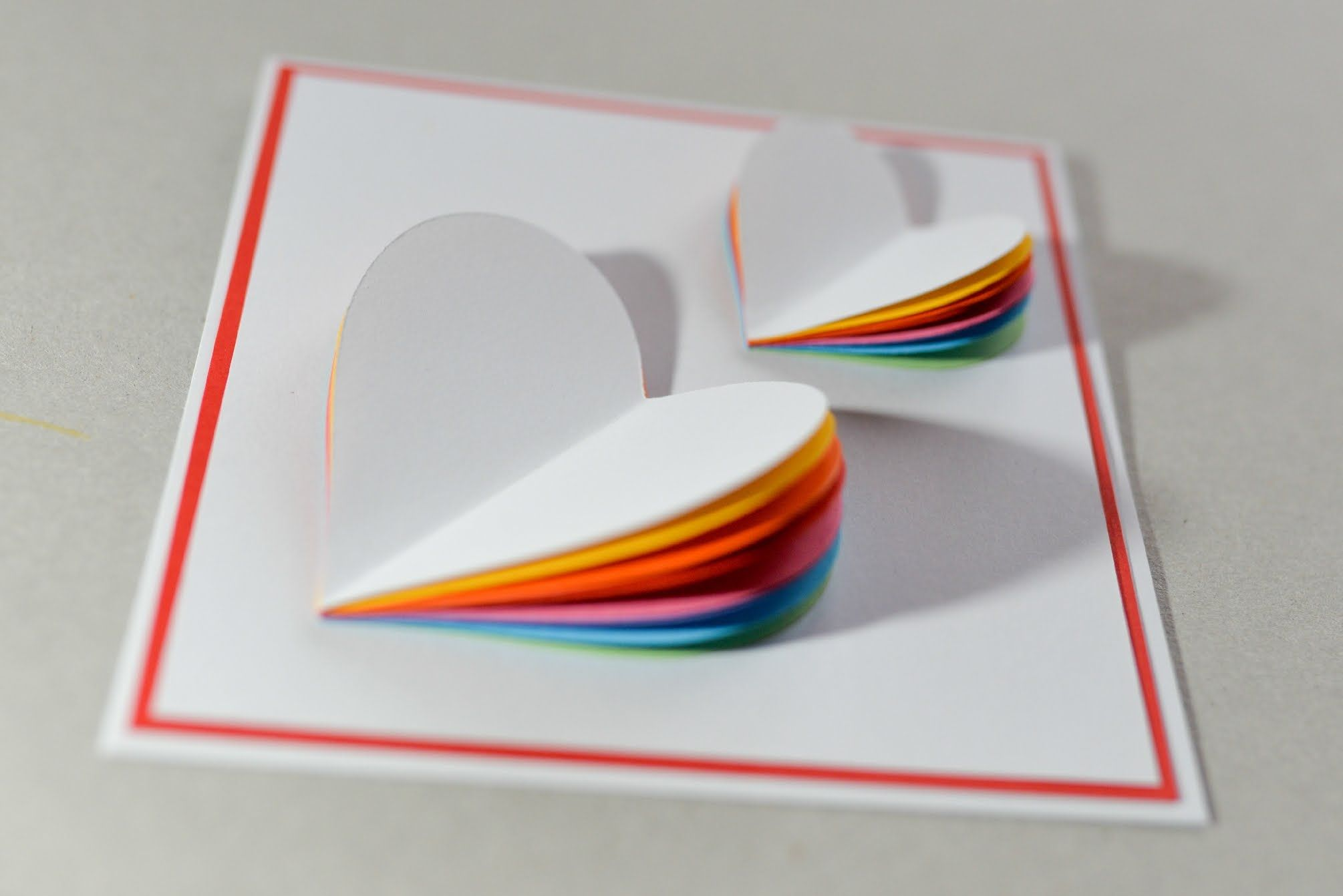 How to make valentines day card rainbow heart greeting card pop up card twin hearts learn how to make a popup heart greeting card ezycraft kristyandbryce Images