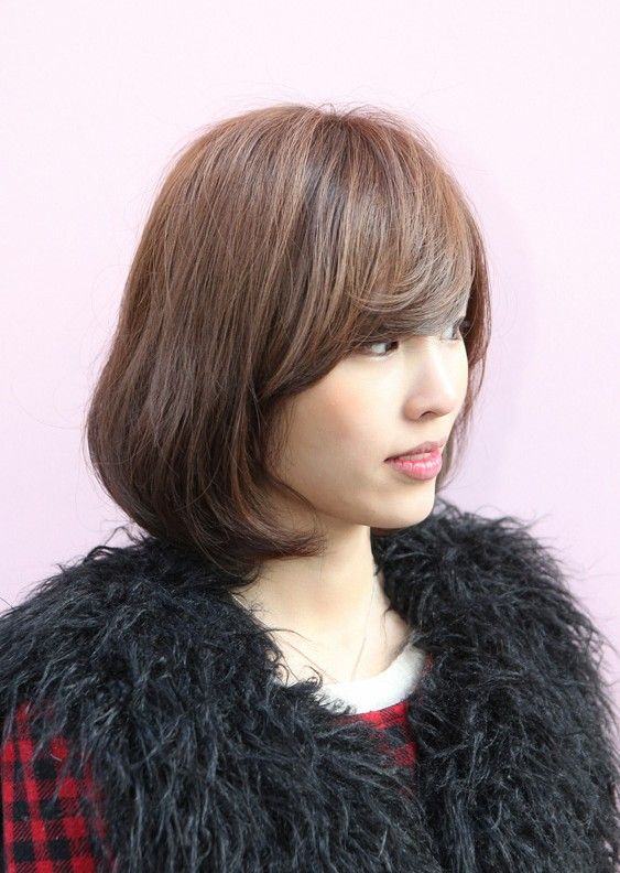 Messy Medium Bob With Long Sexy Fringe