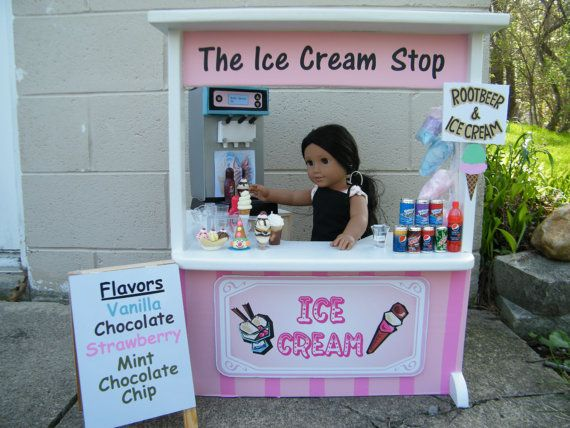 American Girl Doll Food   Ice Cream Stand Preorder Event by annsAGminiatures via Etsy - Order by 5/23/14