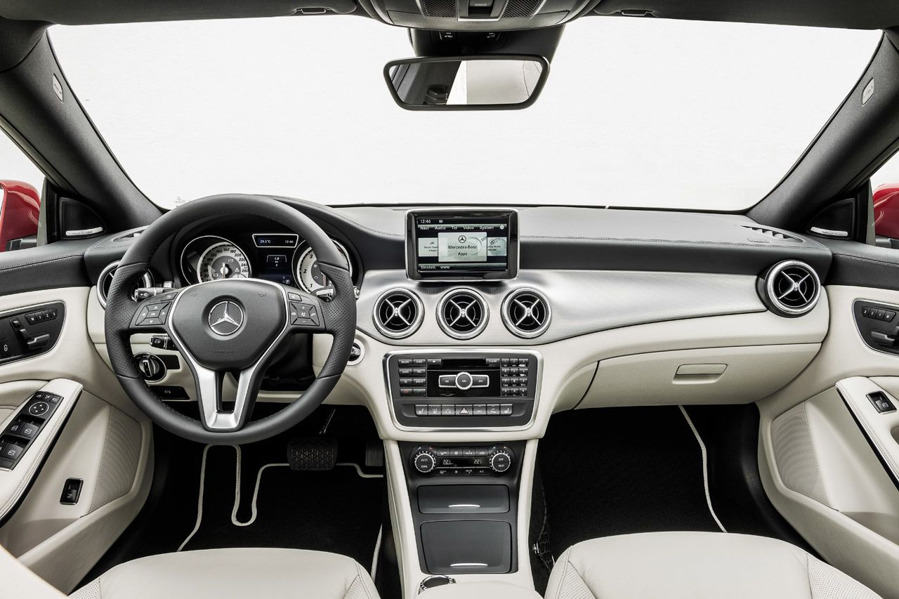 Inside the new 2014 Mercedes Benz CLA - nice!