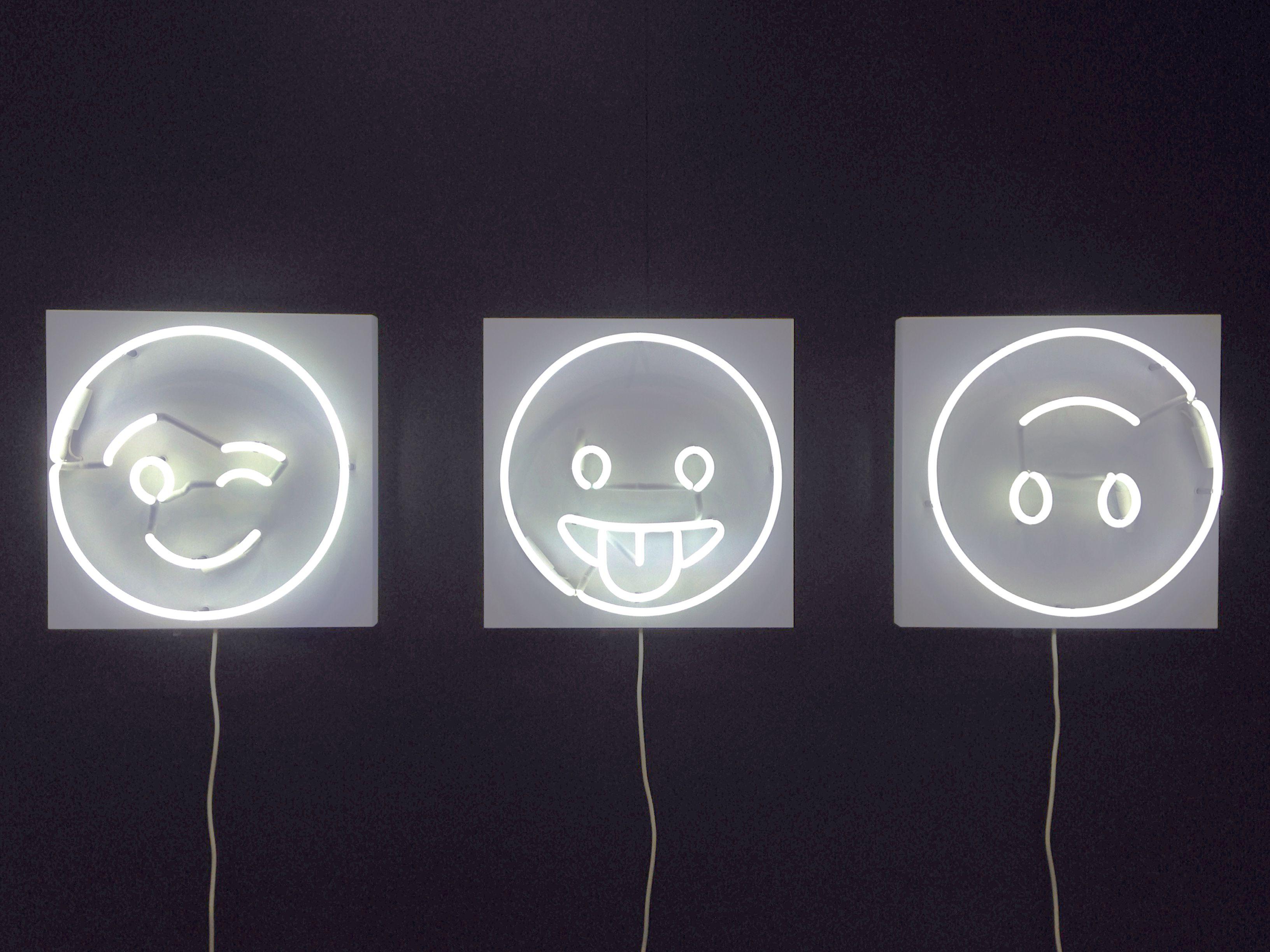 Happy #WorldEmojiDay! We're celebrating with Alice Taranto's neon emoji collection: Lit