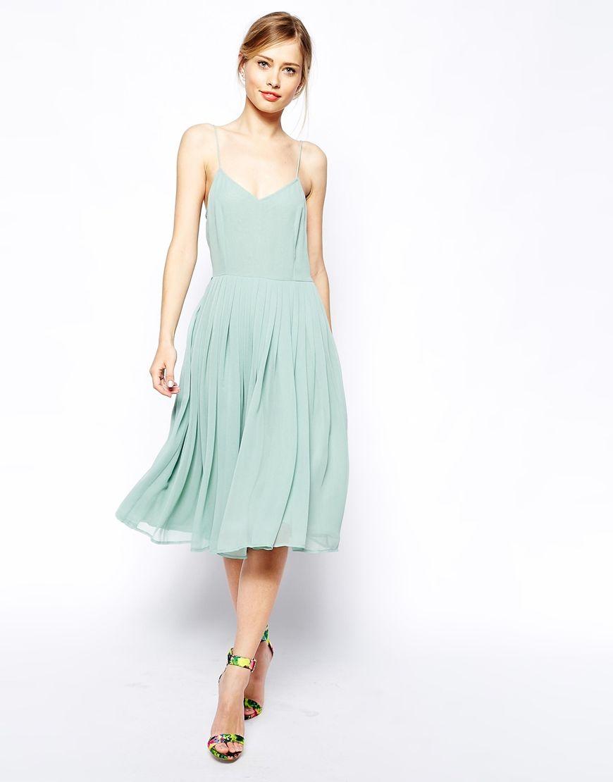 ASOS Skater Dress With Pleated Skirt