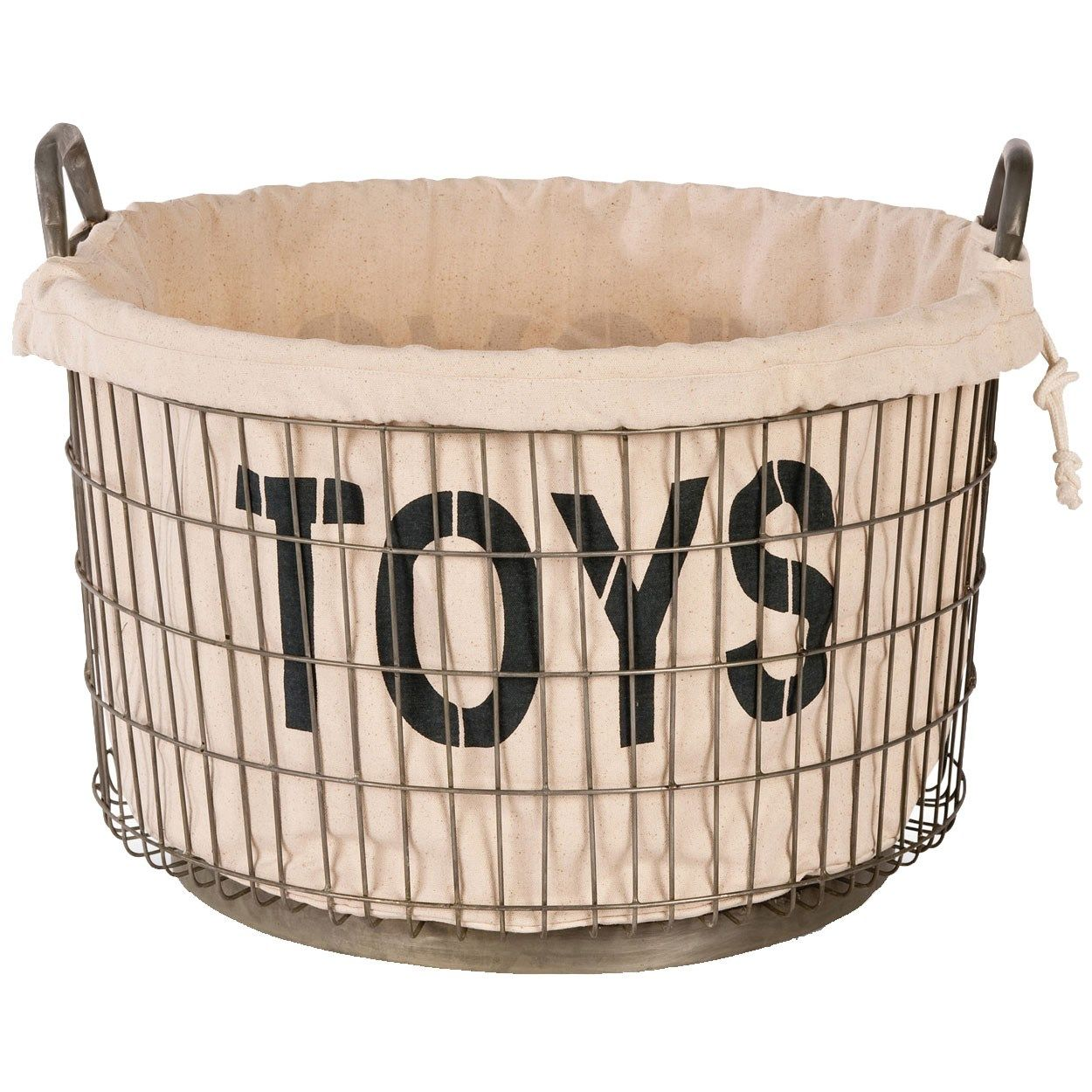 Aidan Gray Decor Wire Toys Stuff And Etc Basket Set With Linen