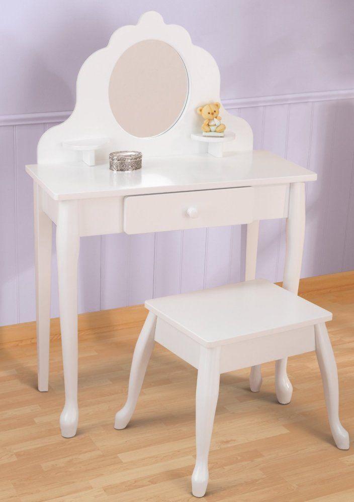 Kidkraft Diva White Mirror Vanity Table Amp Stool Set