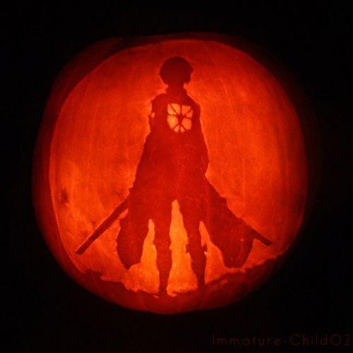 pumpkin template anime  anime pumpkins | Attack on Titan pumpkin carving. | Anime ...