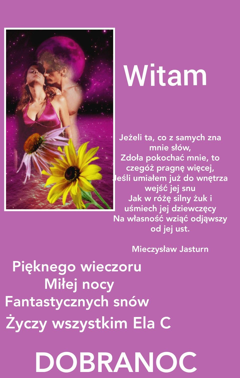 Pin By Elzbieta Cyron On Dobranoc With Images Roze Dobranoc