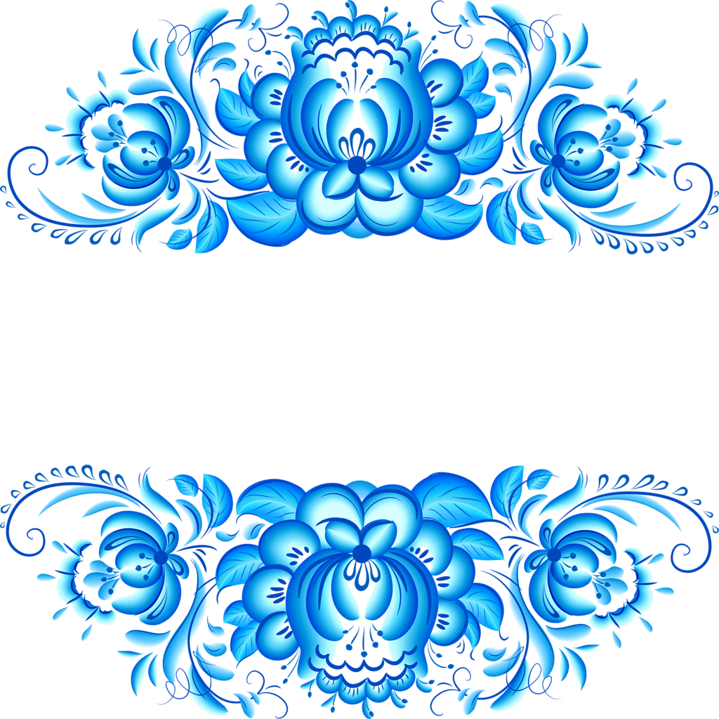 Artistic floral element abstract gzhel folk art blue flowers stock - Folk Art Zhostovo Zhostovo Style Gzhel Khokhloma Petrikovka Palekh Flower