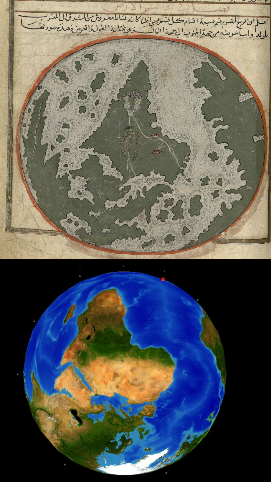 Really incredibly accurate world map from a xiii century incredibly accurate world map from a xiii century persian manuscript gumiabroncs Choice Image