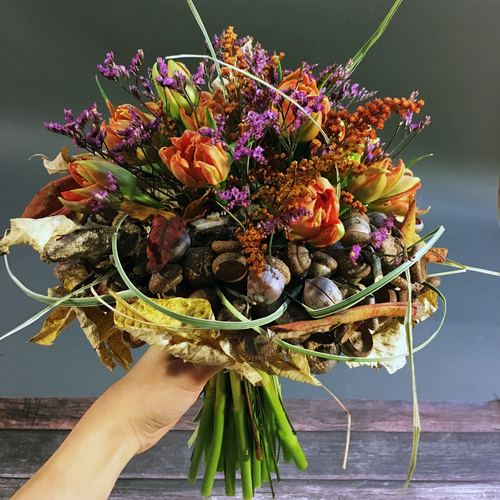 Fall eco-wedding fantasy. By Floristika Studio