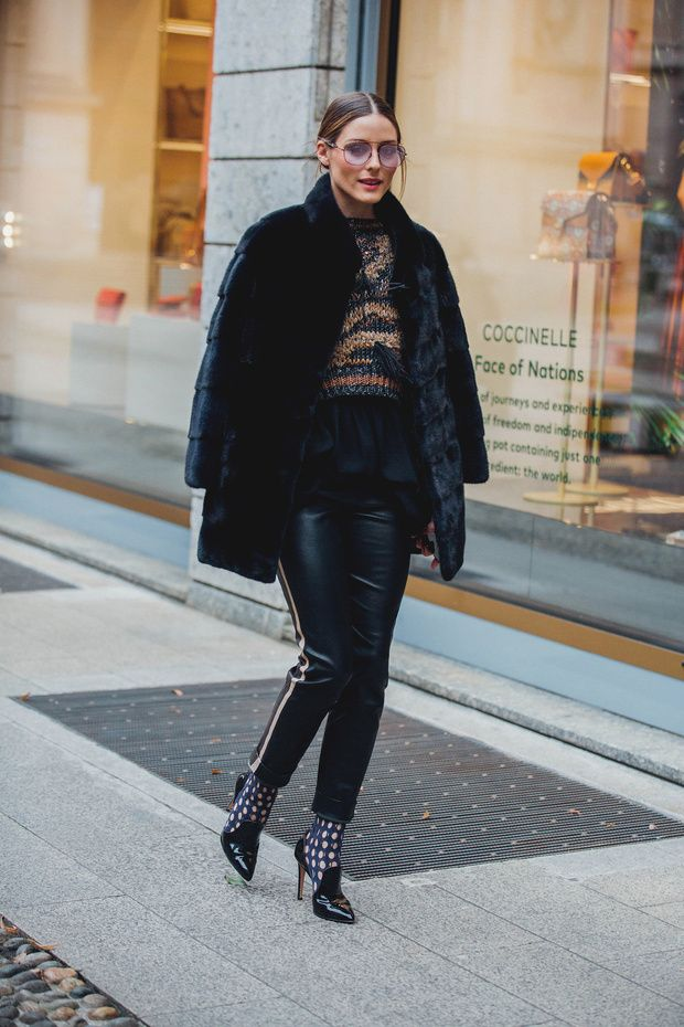 Olivia Palermo at Milan Fashion Week - February 2018  d8059b77de52