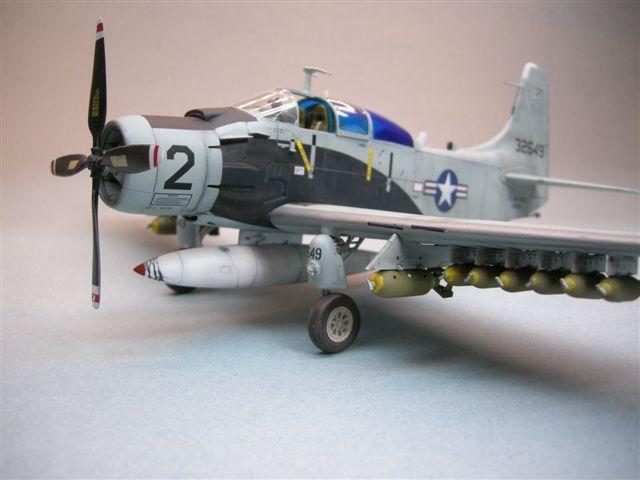 Revell/Matchbox 1/48 A-1E Skyraider in Bernie Fisher's markings