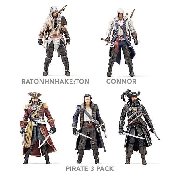 Assassin S Creed Iv Black Flag Themed Action Figures Gadgetsin Assassins Creed Assassin S Creed Assassin