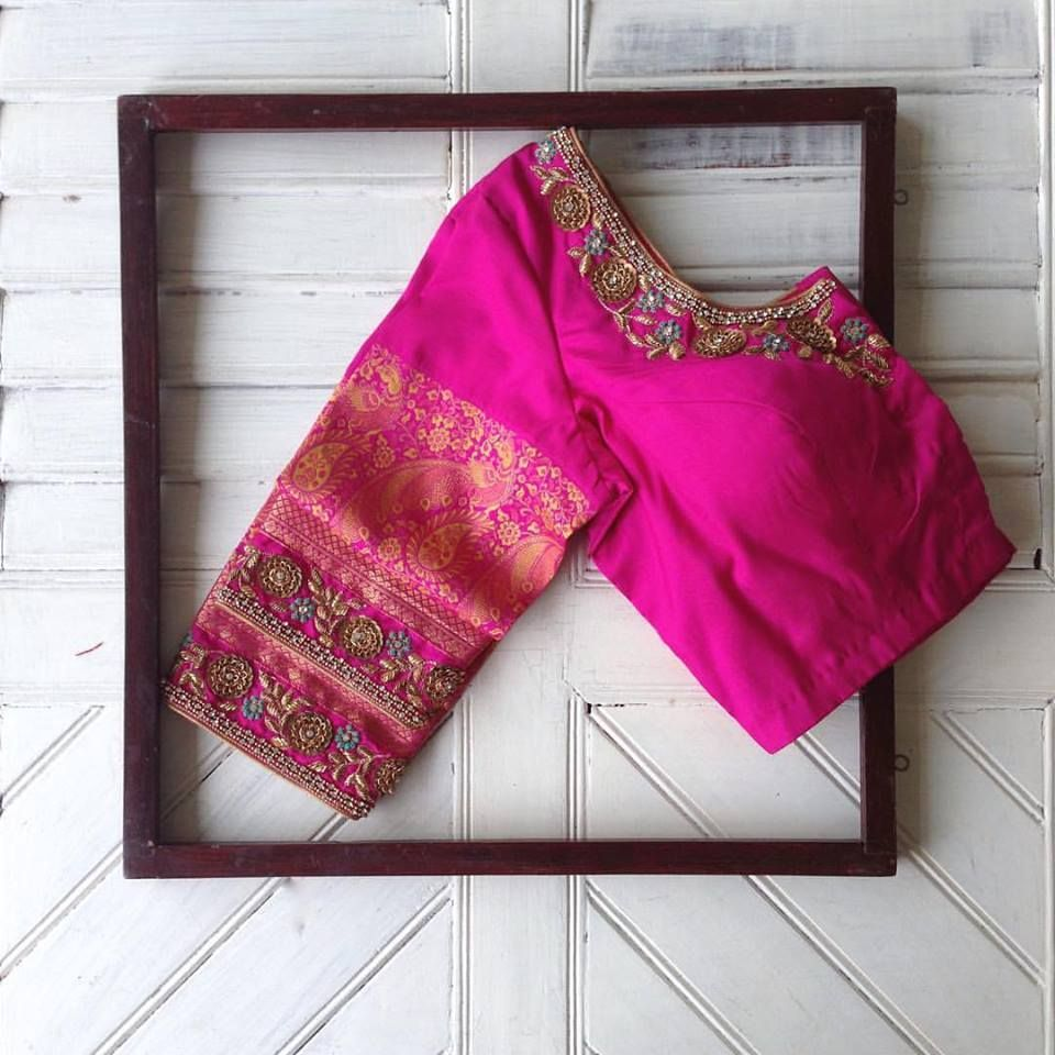 Saree blouse design cutting and stitching  brilliant blouses to adore your wardrobe for all occasions