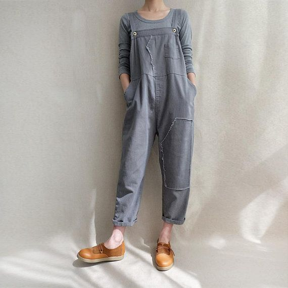 4553a4f2820 Women Leisure Cotton Dungarees Linen Overalls