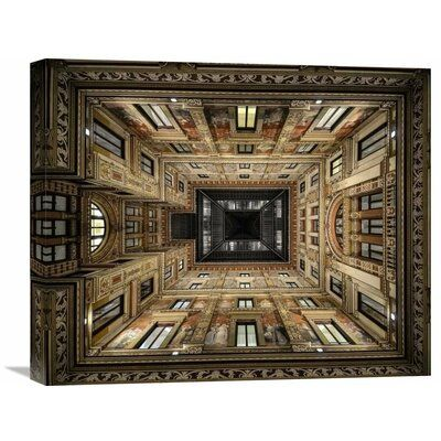 Global Gallery Museum quality giclee on canvas. Hand stretched on deep stretcher bars. Gallery wrapped with image mirrored onto the sides. Size: 18.3