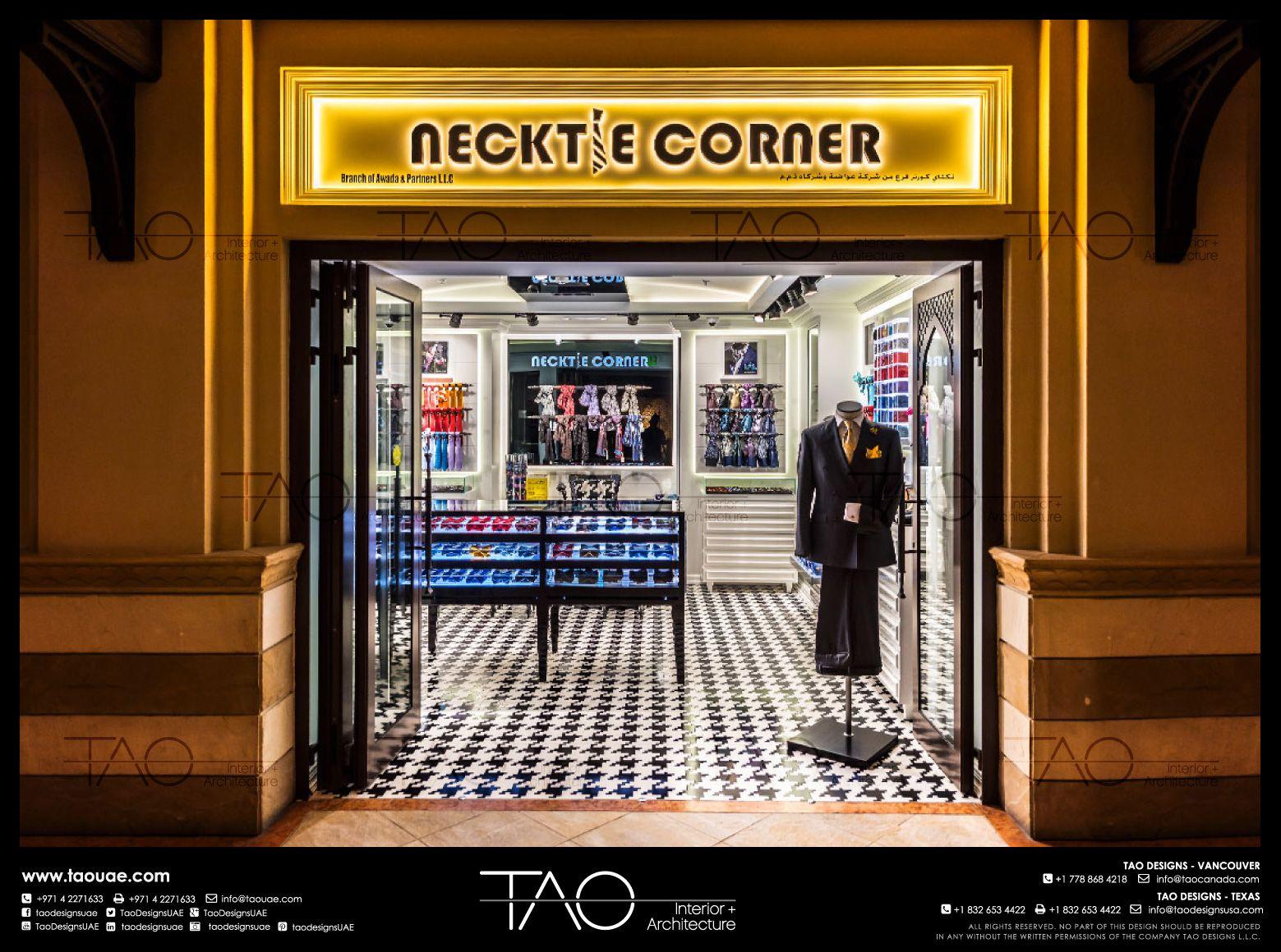 Necktie Corner Shop Front In Dubai Mall Dubai Uae By Tao Designs