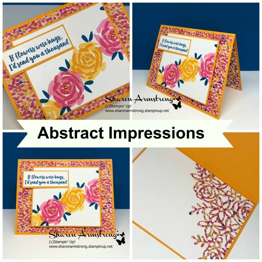 Card Making Kit With Abstract Impressions By Stampin Up Tx Stampin Sharon Card Making Kits Cards Stampin Up
