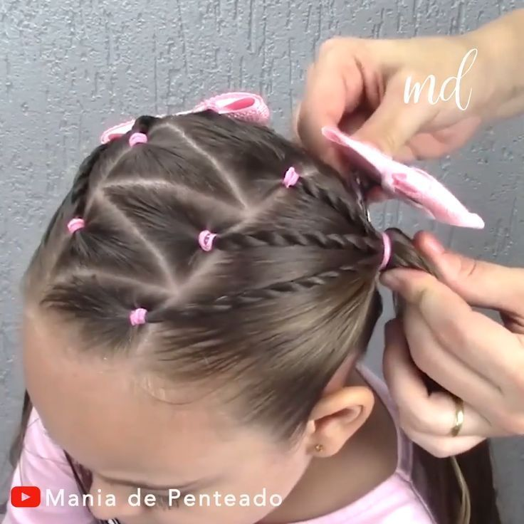 Zick-Zack-Frisur - #frisur - #new | Kinderfrisuren, Haare ...