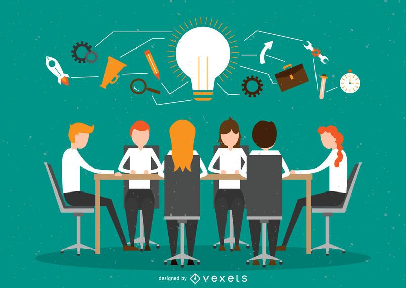 Office teamwork illustration AD , AD, affiliate,