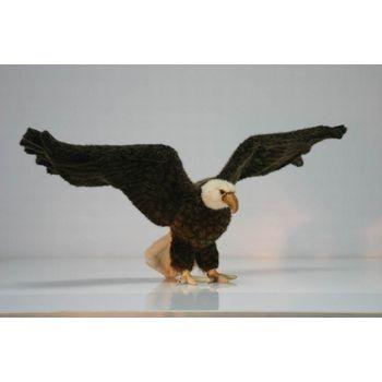 Handcrafted 27 Inch Lifelike Bald Eagle Stuffed Animal By Hansa