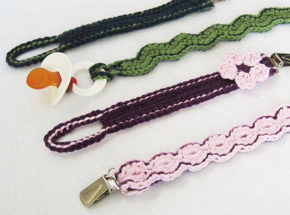 Pacifier Clips CROCHET PATTERN PDF instant Download dummy clips ...