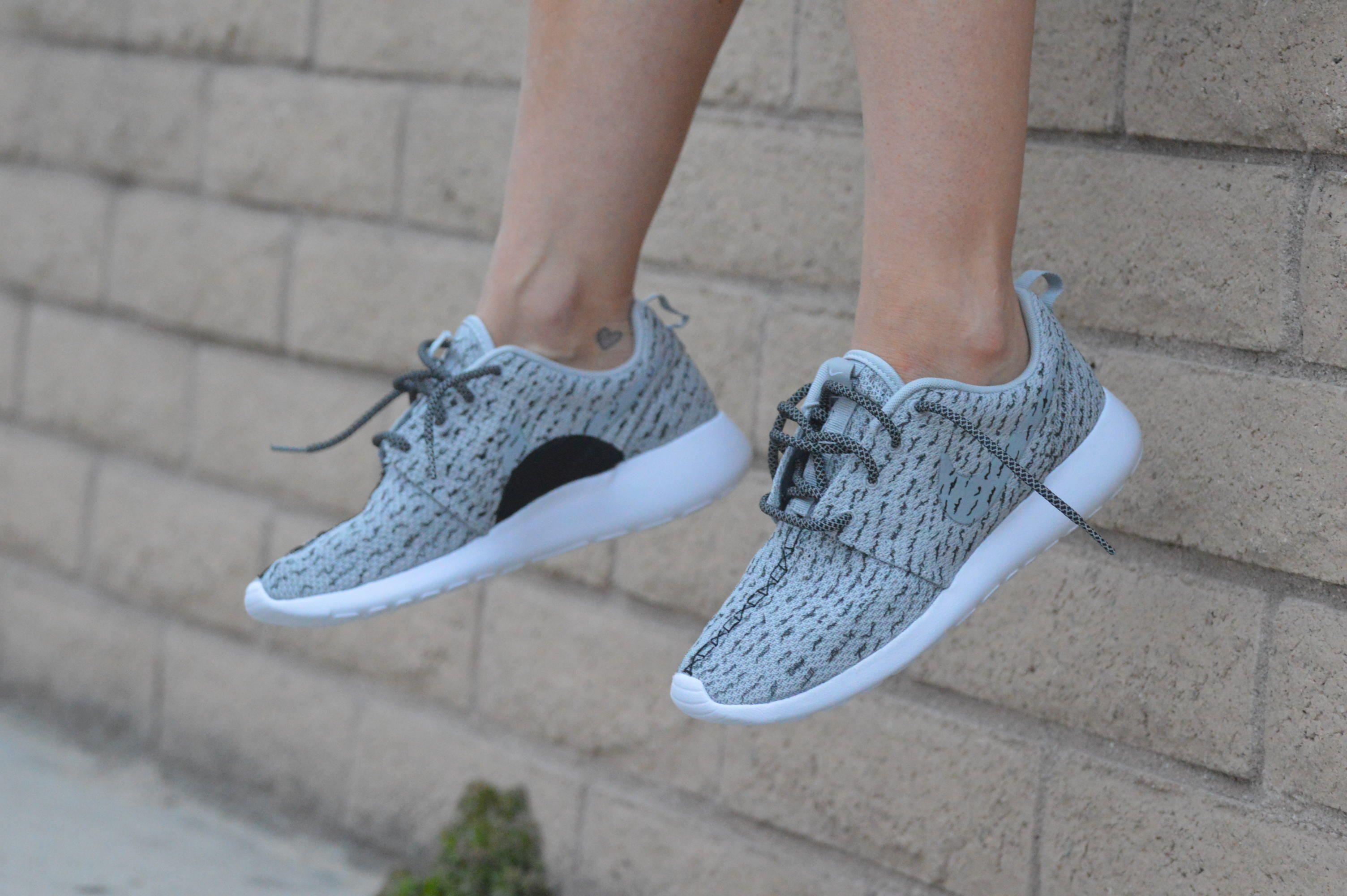 Adidas Yeezy Boost 350 - Custom Hand Painted Nike Roshe One