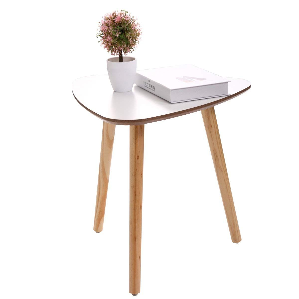 Amazon Com Lazymoon Modern White Pine Wood Triangle Accent 3