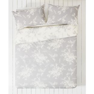 Buy Collection Lottie Grey And White Bedding Set Kingsize At