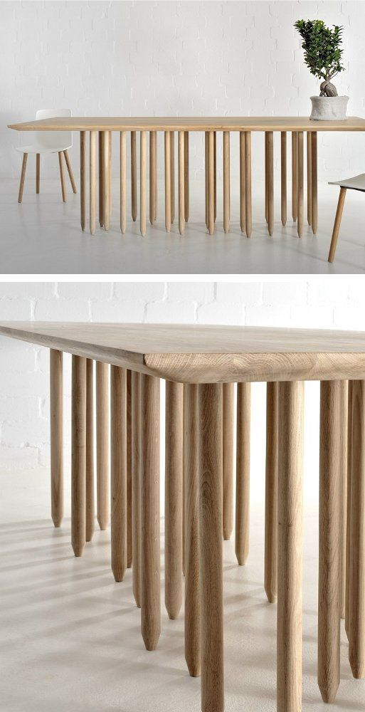 Rectangular Solid Wood Table Stilus By Vitamin Design Design Gg Designart Wood Design Furniture Design Furniture
