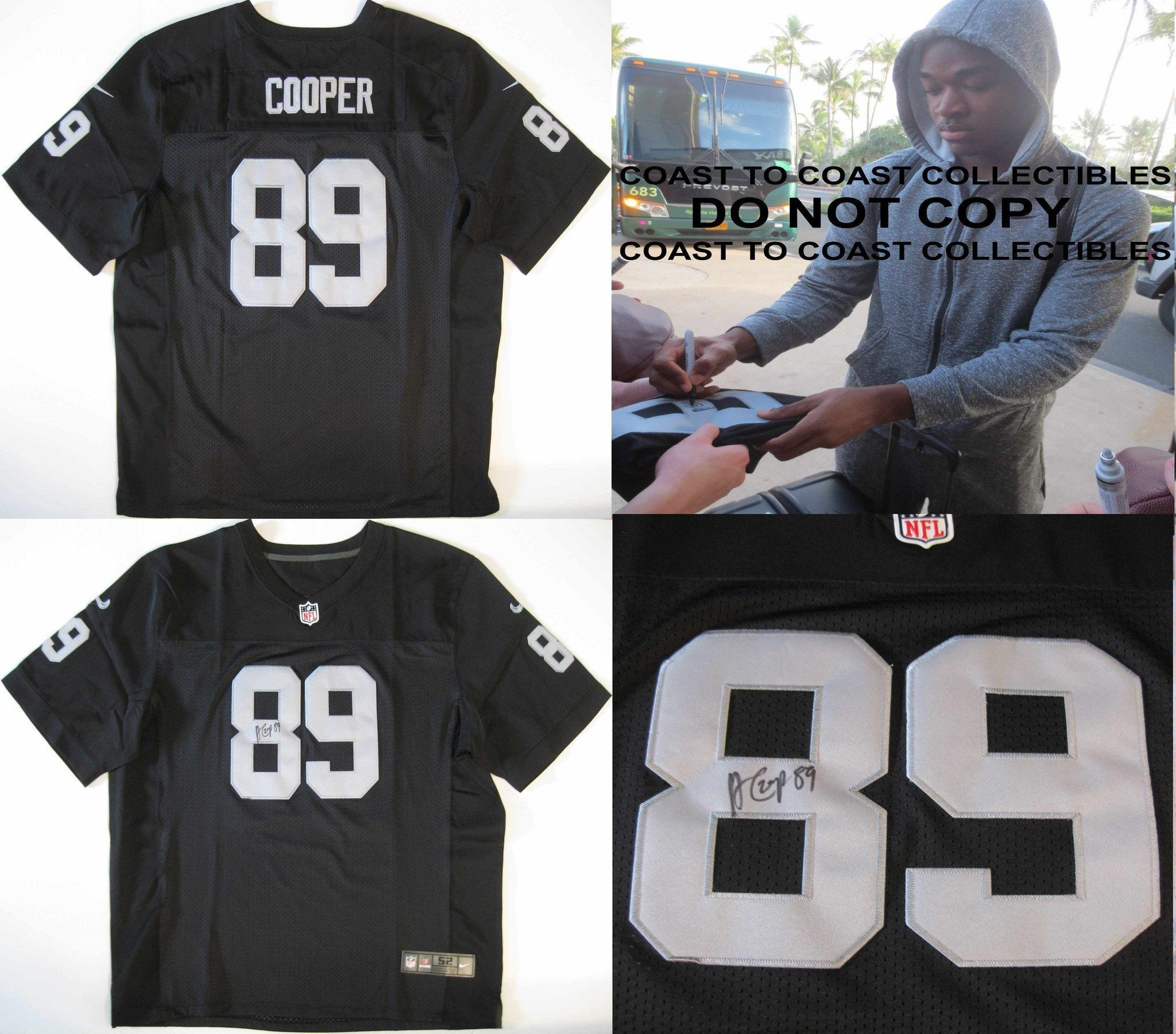 new style 83980 a4fd7 Amari Cooper Oakland Raiders, Signed, Autographed, Raiders ...