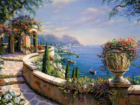 Capri Terrace by Bob Pejman (165 pieces)