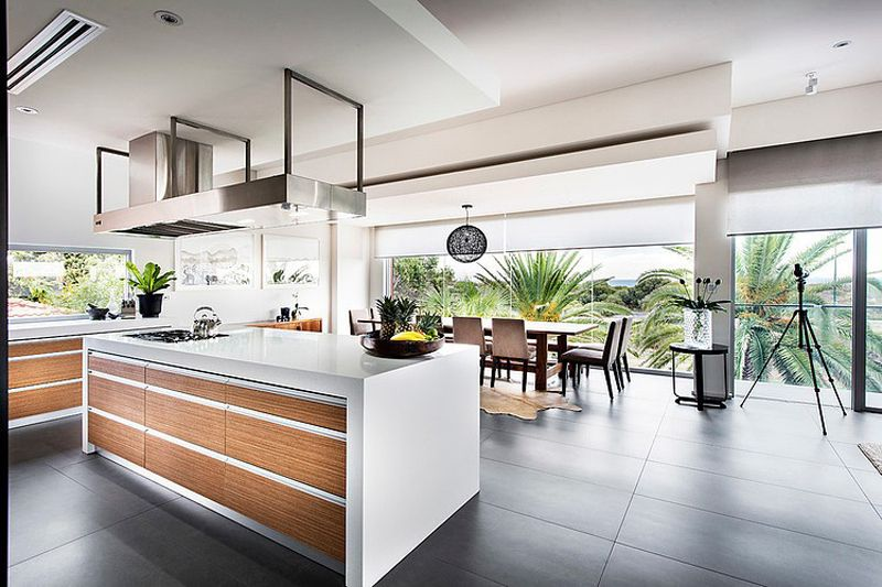 Stunning Modern Rectangular House With A Splendid Architecture And Interior Design House Design Kitchen Modern Home Interior Design Beach House Kitchens House interior designs australia