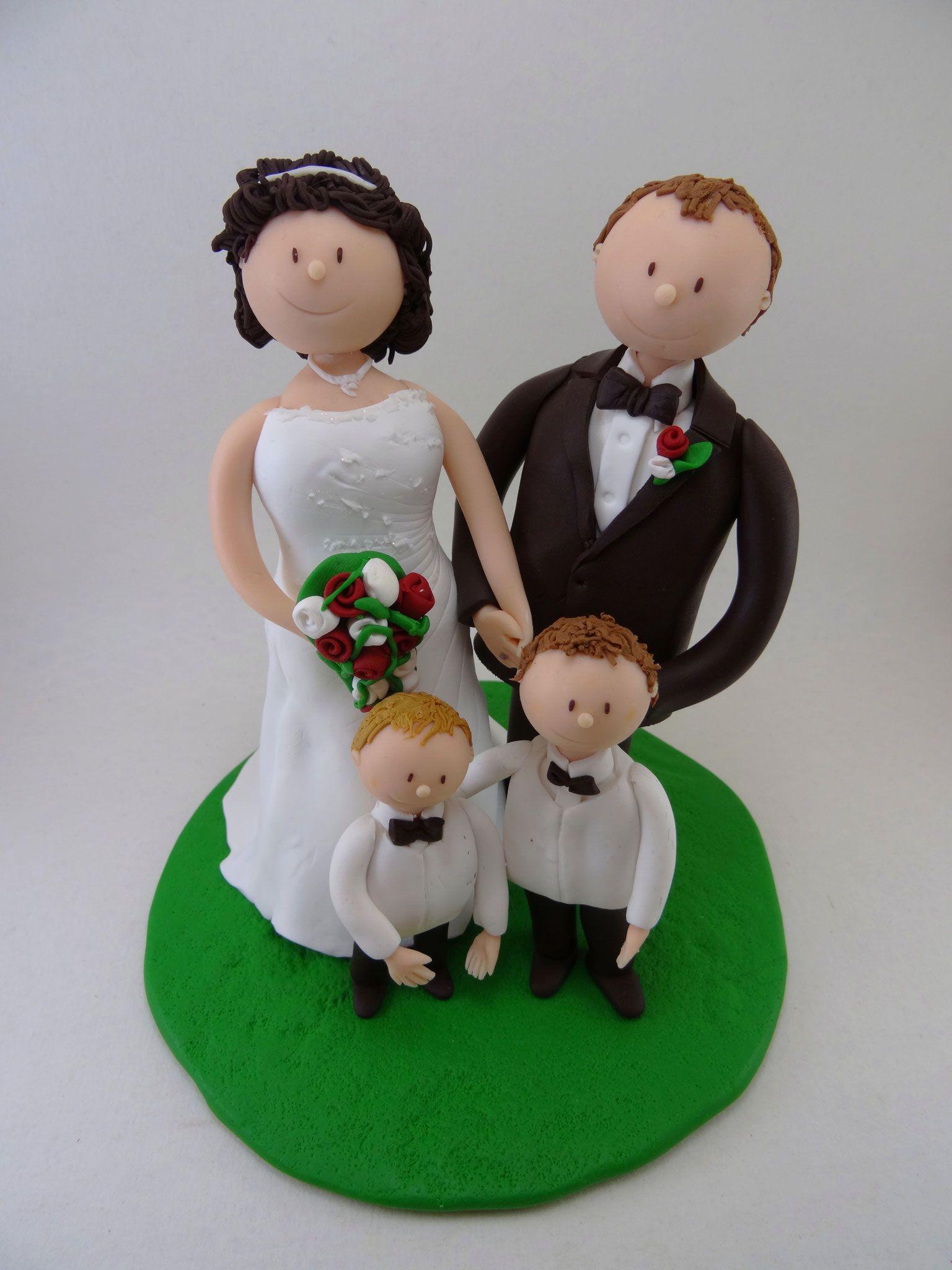 Tortenfigur Brautpaar Mit Kindern Tortenfiguren Hochzeit Torten Figuren Brautpaar