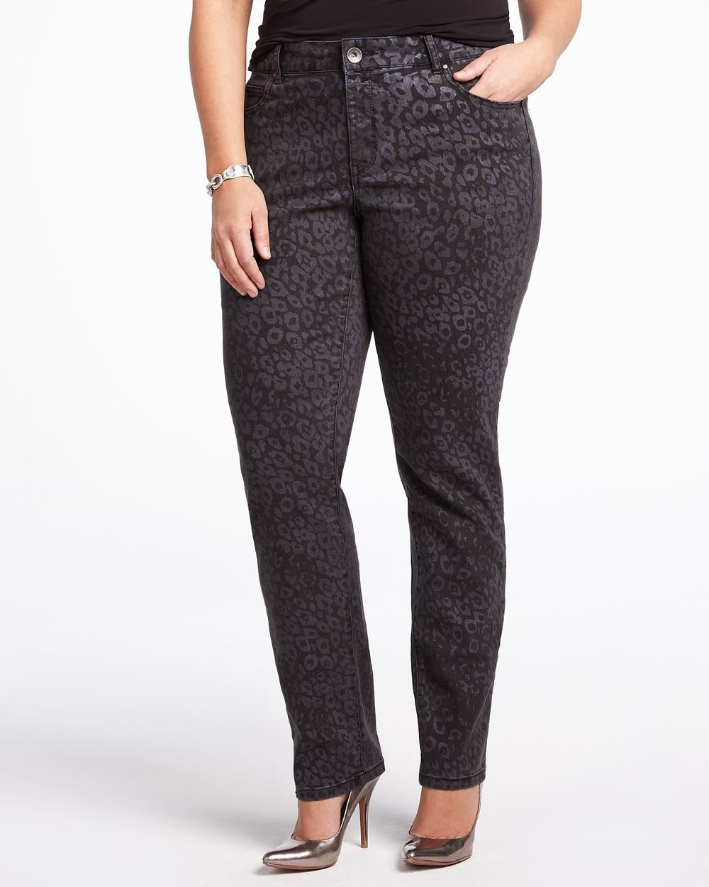dkny metallic jegging  #AdditionElle $39.99