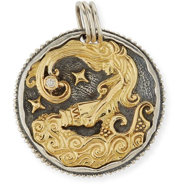 Konstantino Virgo Carved Zodiac Pendant with Diamond kDirSla5