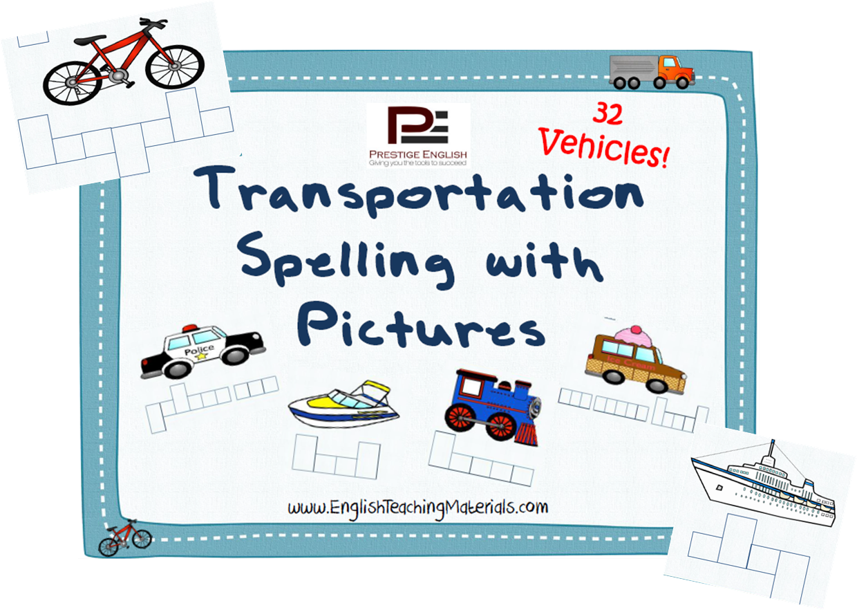 Transportation Spelling With Pictures