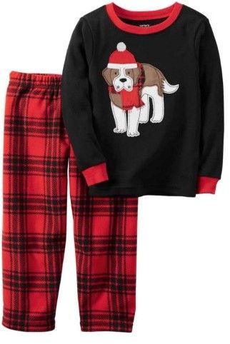 55387fe94736 Carter s Toddler   Lil Boys 2 Piece Holiday Dog Sleepwear Pajama Set 3T
