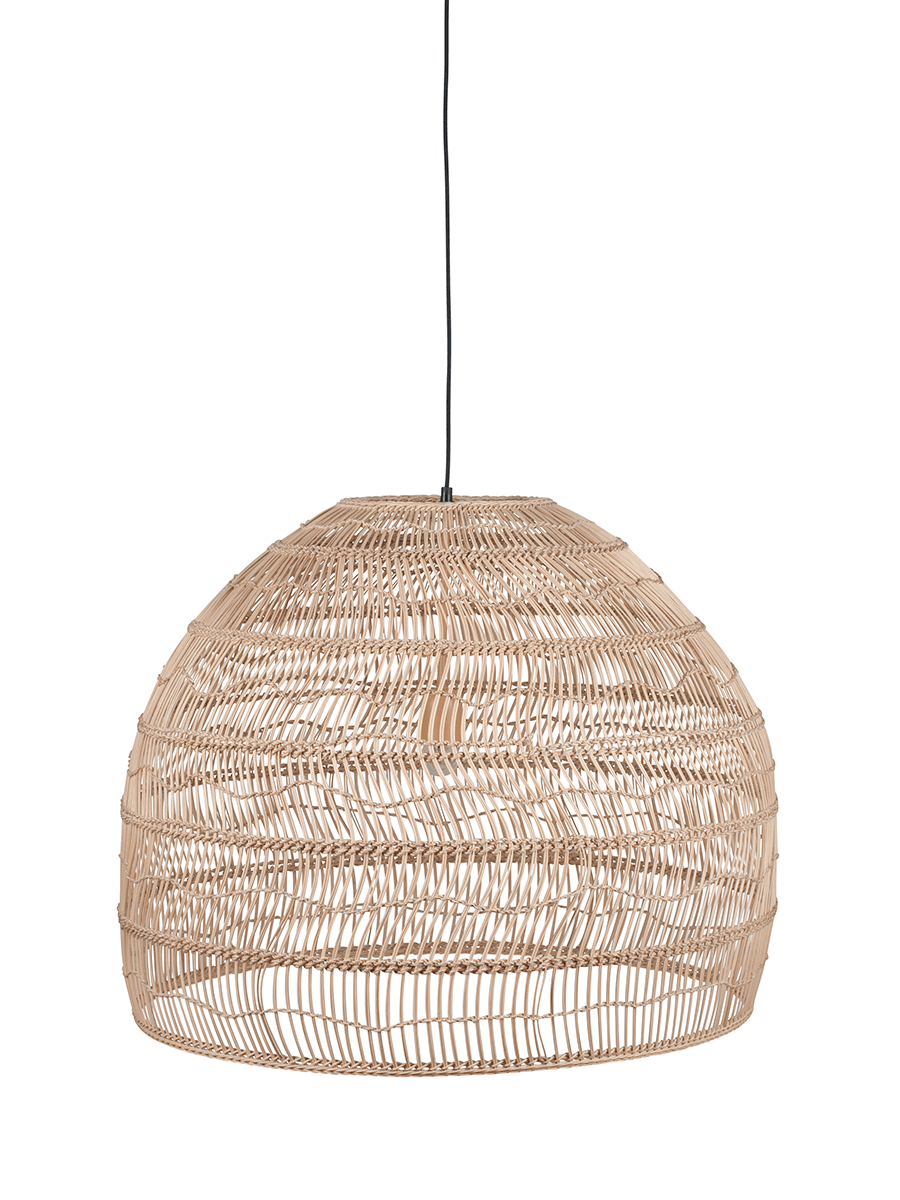 Woven Rattan Shade - Natural in 2020 | Large pendant ...