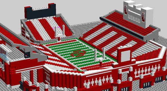 5cf1c3883b8 Custom designed Lego football stadium. Oklahoma Sooner s Gaylord Family  Memorial Stadium by StadiumBrick.