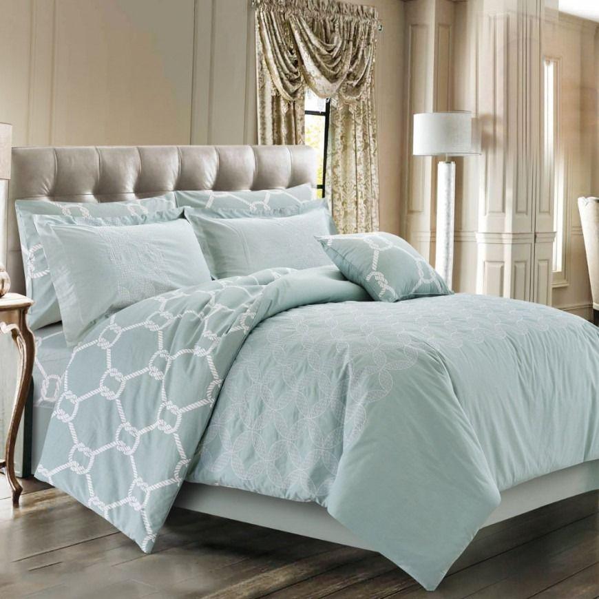 مفرش ساندرا صيفي مزدوج مطرز تيفاني عدد القطع 7 Home Bed Furniture