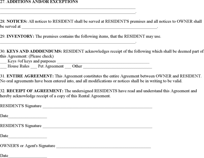 Blank Lease Agreement Download Free Printable Rental Legal Form Template Or Waiver In Different Editable Rental Agreement Templates Lease Agreement Agreement